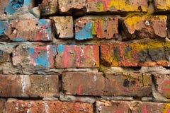 Fragment of a brick wall Royalty Free Stock Photo