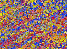 Fragment of broken stained glass multicolored window backgrounds Stock Photos