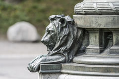 Fragment of a bronze lion sculptures Royalty Free Stock Photo