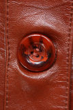 Fragment of brown leather jacket Royalty Free Stock Photography