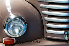 Fragment of brown old car close up Royalty Free Stock Image