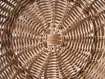 Fragment of a brown wicker basket Stock Images