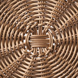 Fragment of a brown wicker basket Stock Photos