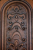 Fragment brown wooden door Royalty Free Stock Image