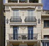 Fragment of building in Cannes. France Royalty Free Stock Photography