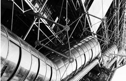Fragment building of Centre Georges Pompidou . Royalty Free Stock Images