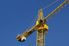 Fragment of the building elevating crane Stock Photo