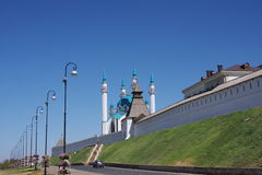 Fragment of building of Kremlin, city Kasan Royalty Free Stock Photo