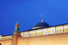 Fragment of the building of the Moscow Kremlin. Russia Stock Image
