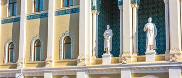 Fragment of building Museum of literature of a name to Nizami Royalty Free Stock Photo