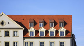 Fragment of building in Regensburg. Bavaria. Germany Royalty Free Stock Photo