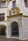 Fragment of the Building in Solothurn Old Town Royalty Free Stock Image