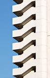 Fragment of a building with a staircase Royalty Free Stock Photos