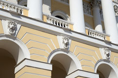 Fragment of building of State Russian Museum in St Petersburg. stock image