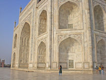 Fragment of a building of Taj Mahal Stock Images