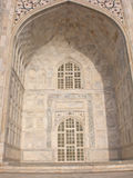 Fragment of a building of Taj Mahal, India. Royalty Free Stock Photos