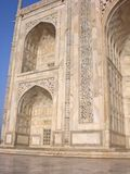 Fragment of a building of Taj Mahal, India. Royalty Free Stock Photo