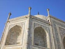 Fragment of a building of Taj Mahal, India. Stock Photo