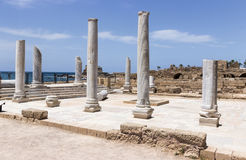 Fragment of buildings inside in the ruined city of Caesarea Stock Photography