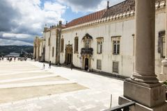 A fragment of the buildings of the University of Coimbra Royalty Free Stock Photo