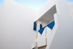 A fragment of the Bungalow architecture of Tunisia Stock Image