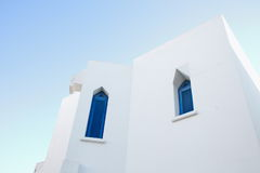 A fragment of the Bungalow architecture of Tunisia Stock Photos