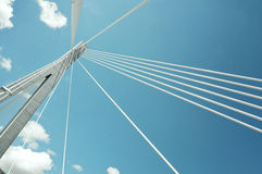 Fragment of a cable stayed bridge in Croatia Royalty Free Stock Photo