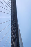 Fragment of a cable stayed bridge. Stock Photos