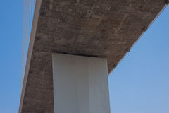 Fragment of cable stayed bridge Royalty Free Stock Photos