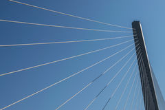 Fragment of cable stayed bridge. Stock Images