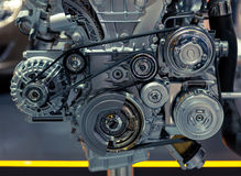 Fragment of car engine Stock Photography