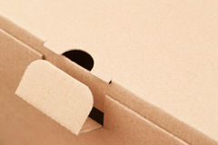 Fragment of a cardboard box Stock Photos