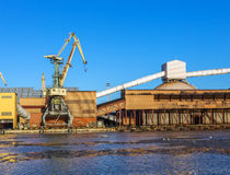 Fragment cargo berth Royalty Free Stock Photography