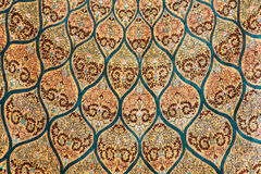 Fragment of carpet. With floral ornament Royalty Free Stock Image