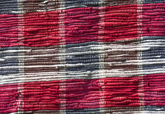Fragment of carpet. Fragment of colorful handmade carpets. Old Village Crafts Royalty Free Stock Photos