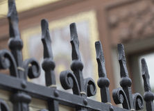 Fragment of cast-iron fence Stock Photography