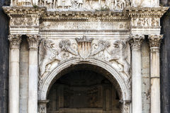 Fragment of Castel Nuovo's triumphal arch Stock Image
