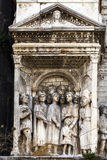 Fragment of Castel Nuovo's triumphal arch Stock Photography