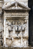 Fragment of Castel Nuovo's triumphal arch Stock Photos