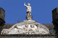 Fragment of Castel Nuovo's triumphal arch Royalty Free Stock Images