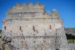 Fragment of Castle of Acquadda. Sardinia. Italy Stock Photos