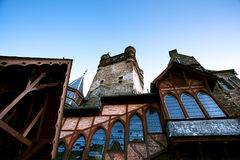 Fragment of castle in Cochem Royalty Free Stock Image