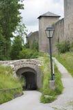 Fragment the castle Hohensalzburg. Royalty Free Stock Photos