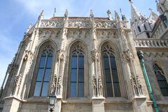 Fragment of the cathedral in Budapest royalty free stock photography