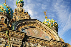 Fragment of cathedral of Our Saviour on Spilled Blood, St. Petersburg Stock Photos