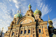 Fragment of cathedral of Our Saviour on Spilled Blood, St. Petersburg Stock Image