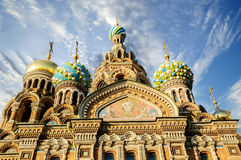 Fragment of cathedral of Our Saviour on Spilled Blood, St. Petersburg Royalty Free Stock Photo