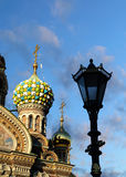 Fragment of cathedral of Our Saviour on Spilled Blood, St. Petersburg stock images