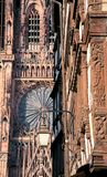 Fragment of cathedral in Strasbourg Royalty Free Stock Images