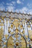 Fragment of Catherine palace fence in Tsarskoye Selo. Stock Photography